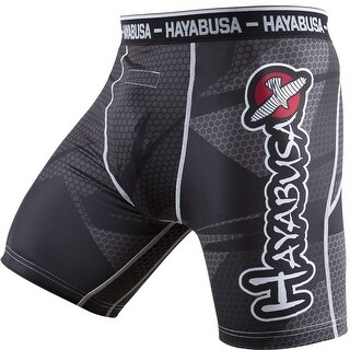 Hayabusa Metaru 47 Silver Compression Shorts - Black - mma boxing grappling bjj