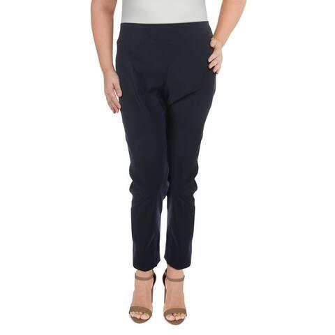 Nic + Zoe Womens Plus Straight Leg Pants High-Rise Business