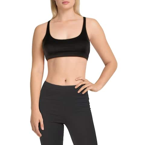 Reebok Womens Workout Ready Sports Bra Fitness Yoga - Black