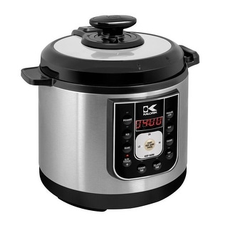 Kalorik Black and Stainless Steel Perfect Sear Pressure Cooker - Stainless Steel