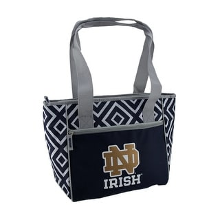 Notre Dame University Fighting Irish 16 Can Cooler Tote Bag - Blue