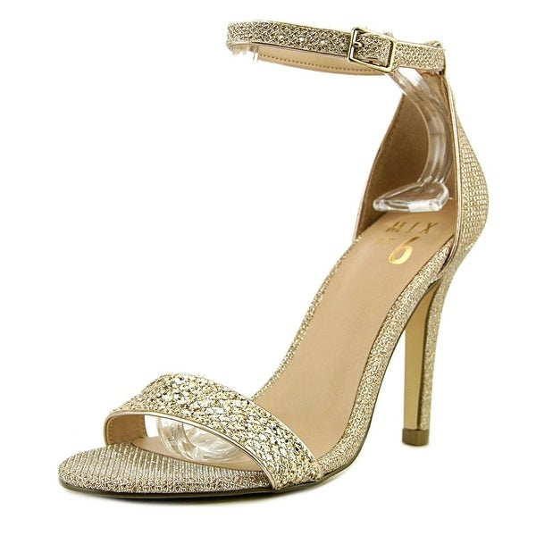 Mix No 6 Lina Women Open Toe Synthetic Gold Sandals