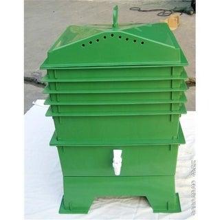 Wonder Metal and Plastic G900203-Green VermiHut Worm Bin- 5 Unit Tray