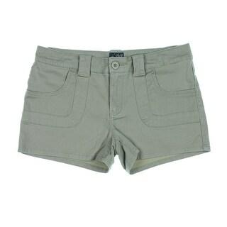 Be Bop Womens Juniors Flat Front Stretch Denim Shorts