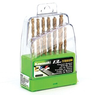 Kawasaki? 13 pc Titanium Coated HSS Twist Drill Bit Set - 840269