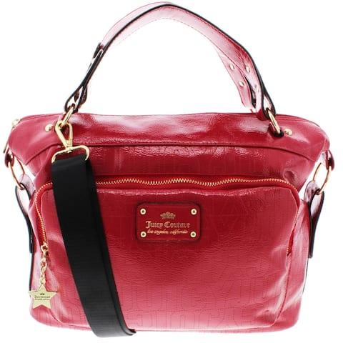 Juicy Couture Ever After Women's Patent Logo Convertible Satchel Handbag - Large