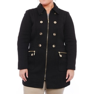INC International Concepts Women Embellished Zipper Trench Coat Trench