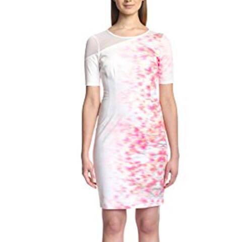Elie Tahari Womens Emory Dress, Sweet Melon, 4 US