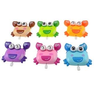 6pcs Wheel Moving Happy Crab Wind-up Fun Action Toys for Kids