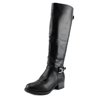 Rampage Imelda Round Toe Leather Mid Calf Boot