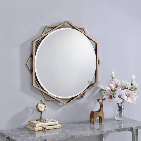 Carson Carrington St Genies Metal Beveled Wall Mirror