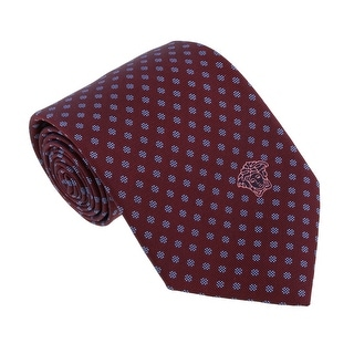 Versace Bordeaux/Blue Woven Dotted Polka Tie