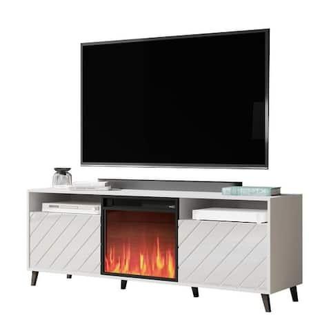 "Paris Electric Fireplace Modern 67"" TV Stand"