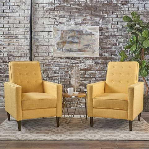 Strick & Bolton Simone 2-piece Mid-Century Recliner Club Chair Set