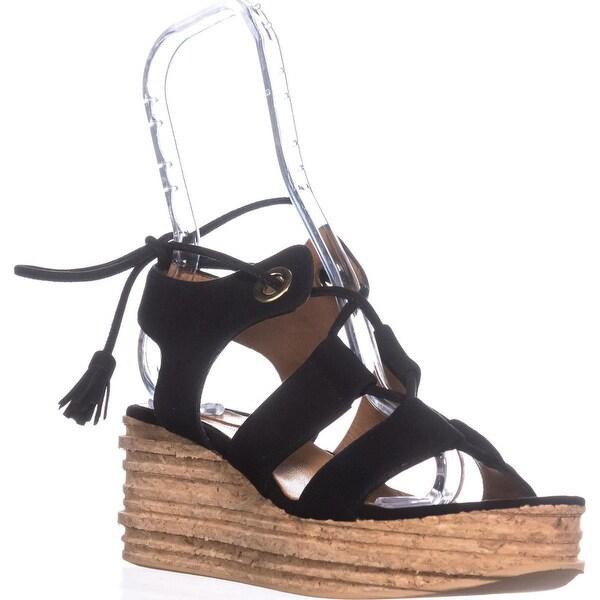 Andre Assous Brigitte Platform Gladiator Sandals, Black - 8 us