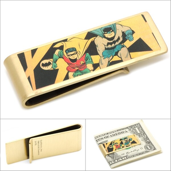 Vintage Style Batman and Robin Comic Money Clip DC Licensed