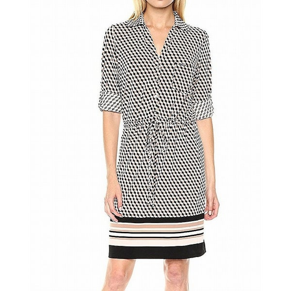 abca723a Shop Tommy Hilfiger Black Womens Drawstring Shirt Dress - Free Shipping On  Orders Over $45 - Overstock - 21837330