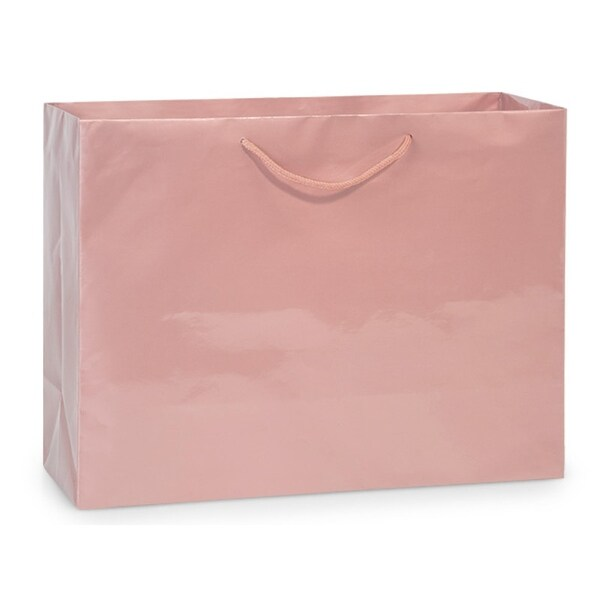 Shop Rose Gold Gloss Vogue Gift Bags 10 Pk 16x6x12