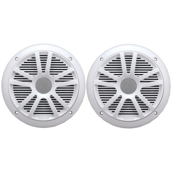 "BOSS AUDIO MR6W 6.5"" Dual-Cone Marine Speakers (White)"