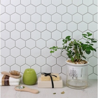 """Link to WS Tiles 2"""" Porcelain Hexagon Mosaic Wall & Floor Tile (18 sq. ft.) Similar Items in Tile"""