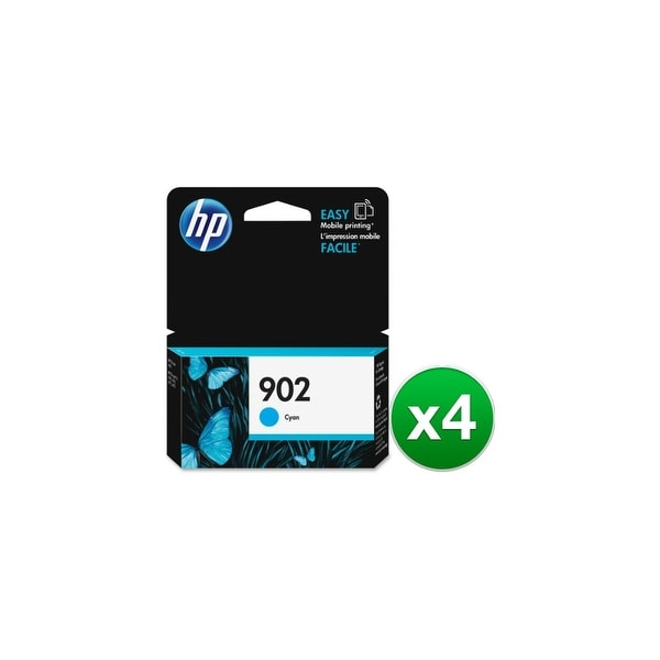 HP 902 Cyan Original Ink Cartridge (T6L86AN)(4-Pack)