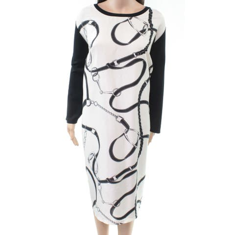 Lauren by Ralph Lauren Women's Dress White Size 1X Plus Sheath