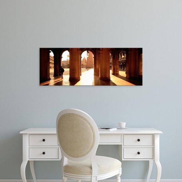 Easy Art Prints Panoramic Images's 'Tourists in a building, Venice, Italy' Premium Canvas Art