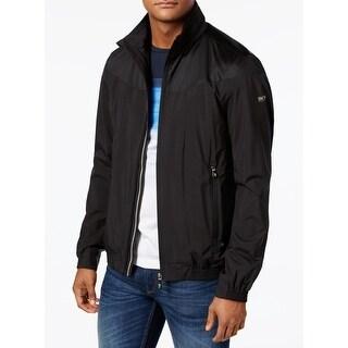 Hugo Boss Deep Black Mens Size Medium M Full Zip Jalomo Jacket