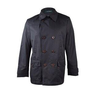 Lauren Ralph Lauren Men's Double-Breasted Raincoat (42S, Black) - Black - 42s
