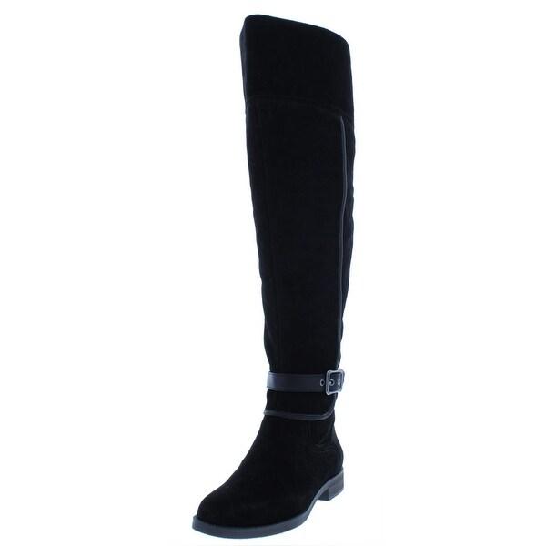 8372a60f0743 Shop Franco Sarto Womens Crimson Riding Boots Wide Calf Suede - Free ...