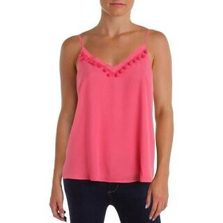 Aqua Womens Camisole Top Contrast Trim Adjustable