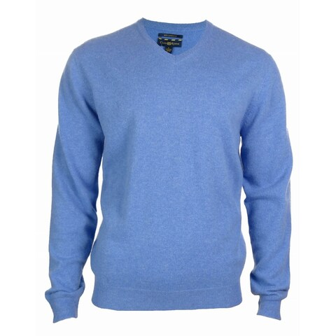 Men's 100% Cashmere Solid V-Neck Sweater
