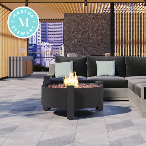 Martha Stewart Perry Street Gas Heating 31 Round Charcoal Fire Pit