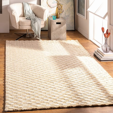 """Hand-Tufted Solid Towallum Wool Area Rug - 3'6"""" x 5'6"""""""