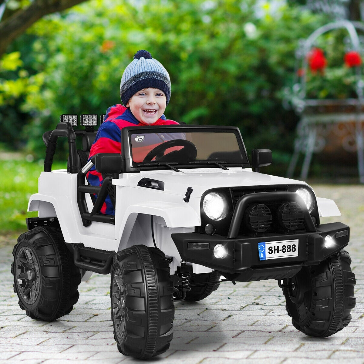 12v Kids Ride On Truck Car W Bluetooth Remote Control Mp3 Music Led Overstock 27758284