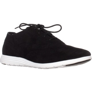 Cole Haan Grand Tour Oxford Sneakers, Black Suede/Black