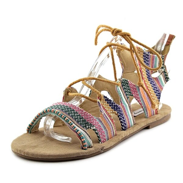 Coolway Malawi Women Open Toe Canvas Multi Color Gladiator Sandal