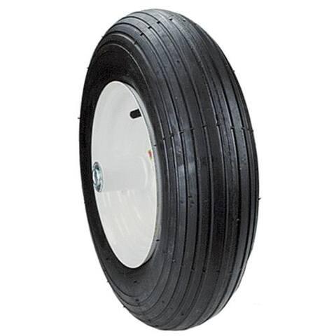 Max Power 335250 2-Ply Rib Tread Wheelbarrow Wheel, Outer Black tire only
