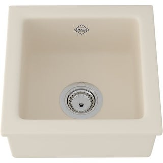 """Rohl RC1515 Shaws Original 11-3/4"""" Single Basin Undermount or Drop-in Fireclay Kitchen or Bar Sink"""