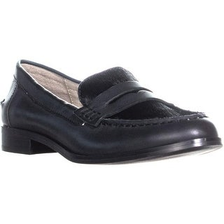 STEVEN by Steve Madden Ronnie Loafers, Black Pony - 6 us
