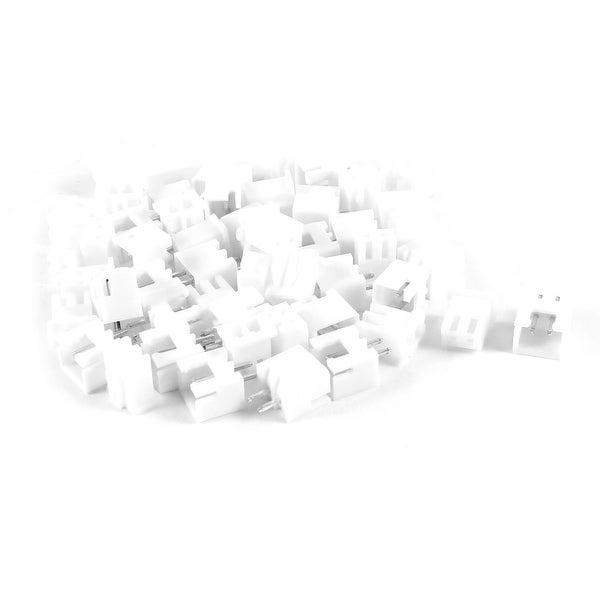 Unique Bargains 25PCS 2 Terminal 2.54mm Pitch Straight Mounting Pin Headers White