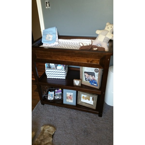 Child Craft Abbott Walnut Brown Wood Dressing Table   Free Shipping Today    Overstock.com   18754495