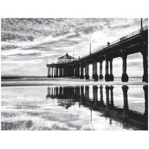 ''Manhattan Beach Pier'' by Anon Coastal Art Print (14 x 18.25 in.)