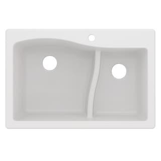 Link to KRAUS Quarza Granite 33 inch 60/40 Undermount Drop-in Kitchen Sink Similar Items in Sinks