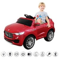 Costway 6V Licensed Maserati Kids Ride On Car RC Remote Control Opening Doors MP3 Swing Red