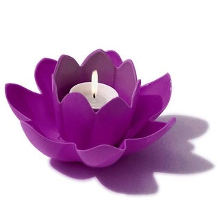 """7.5"""" HydroTools Swimming Pool or Spa Magenta Floating Flower Candle Light"""