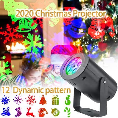 12 Patterns Projector Lights Garden Decorative Lamp Lighting Waterproof Sparkling Landscape Holiday Christmas Decoration