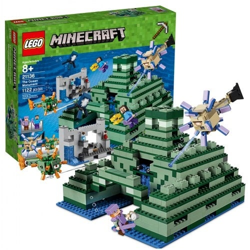 Lego Minecraft The Ocean Monument Free Shipping 21136