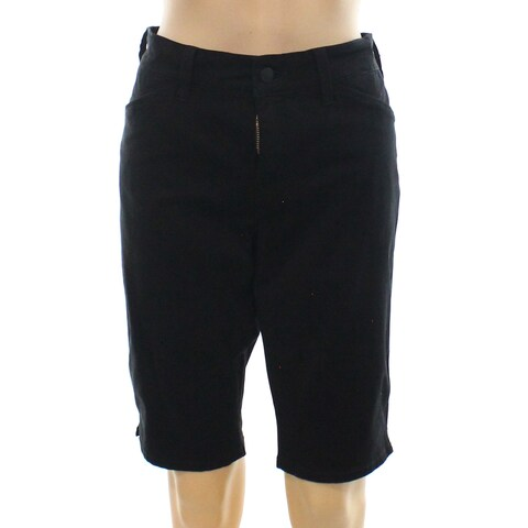 NYDJ Black Womens Size 2 Christy Flat Front Khaki Chino Shorts