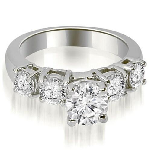 1.20 cttw. 14K White Gold Prong Set Round Cut Diamond Engagement Ring